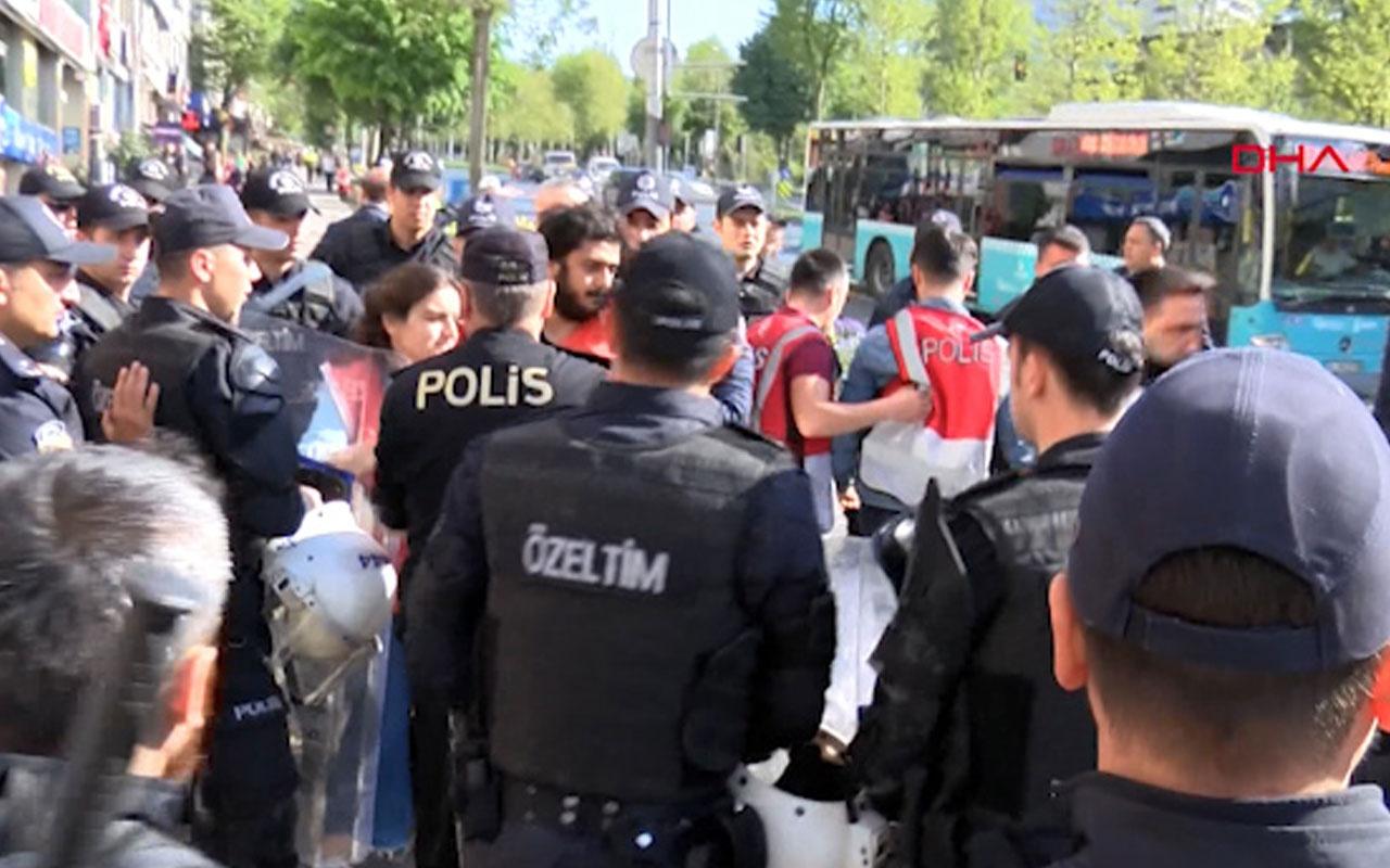 Beşiktaş'tan Taksim'e yürüyen grup gözaltına alındı