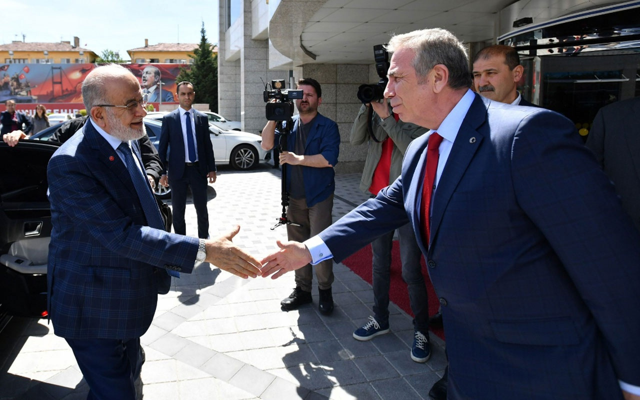 Temel Karamollaoğlu Mansur Yavaş'ı makamında ziyaret etti