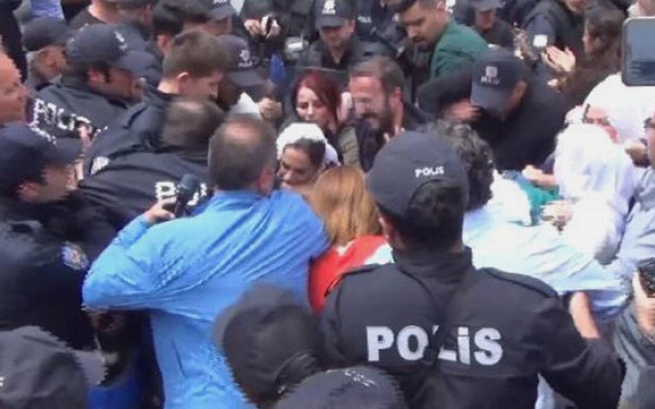 HDP'li Remziye Tosun polisin kolunu ısırdı