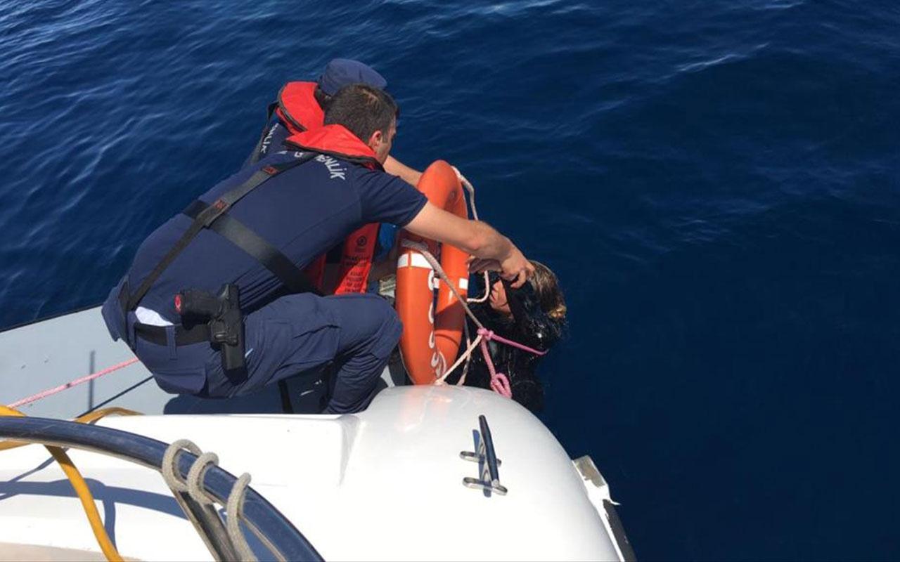 Balıkesir Ayvalık açıklarında kaçak göçmen teknesi faciası