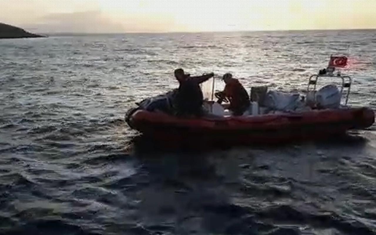 Balıkesir'de 1 tonluk uyuşturucu tekneyi batırdı