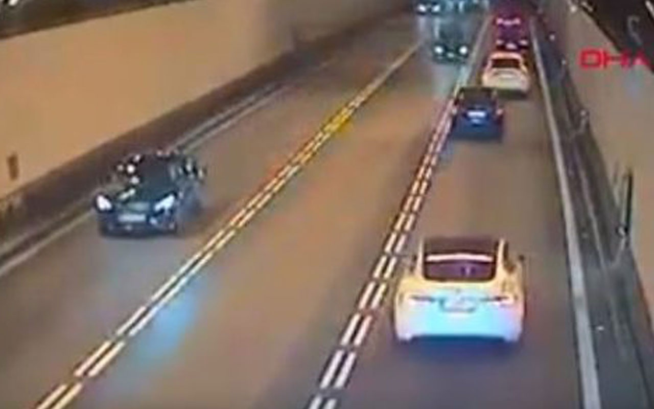 Ters yöne giren dikkatsiz sürücü kazaya sebep oldu