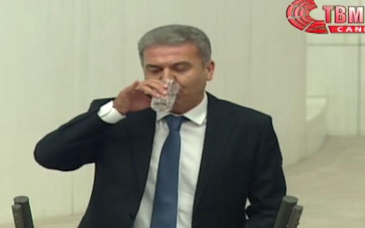 CHP'li vekil Tufan Köse kürsüde su içti, HDP'li vekil hatırlattı: Laik Türkiye burası