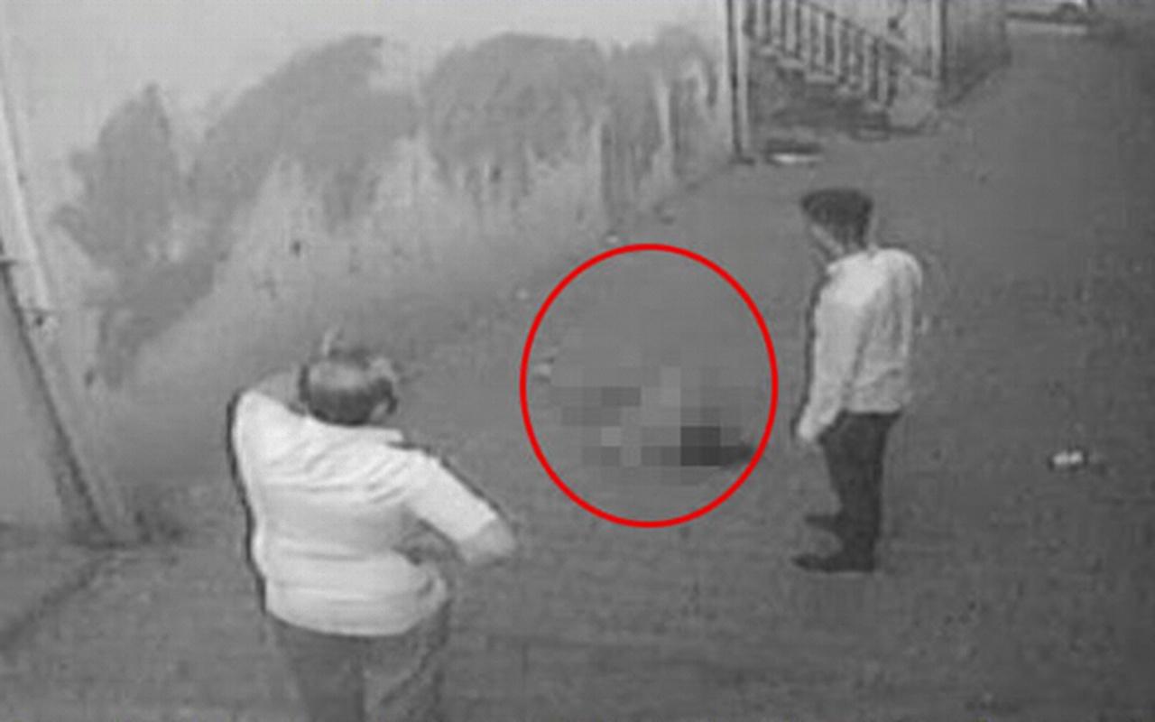 Şanlıurfa'da genç kızın balkondan düşme anı kamerada