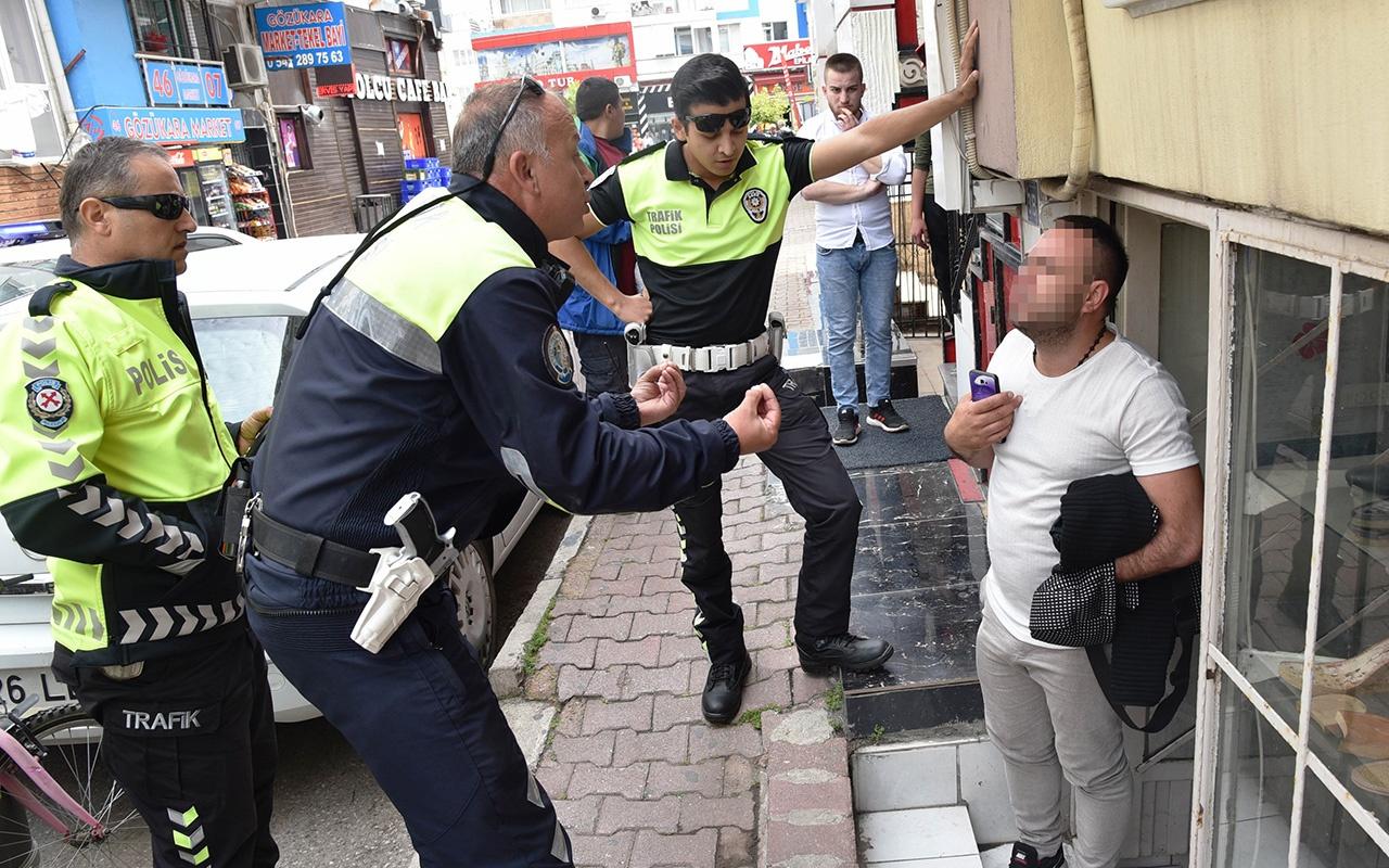 Antalya'da kaçan adamın sözleri polisi çileden çıkardı