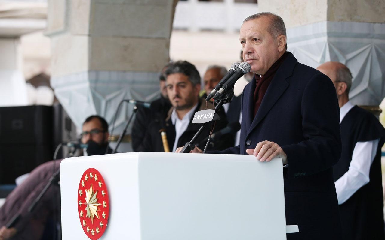 """Erdoğan: """"Geçmişte olduğu gibi, bugün de cami merkezli hayatı özendirmemiz"""""""