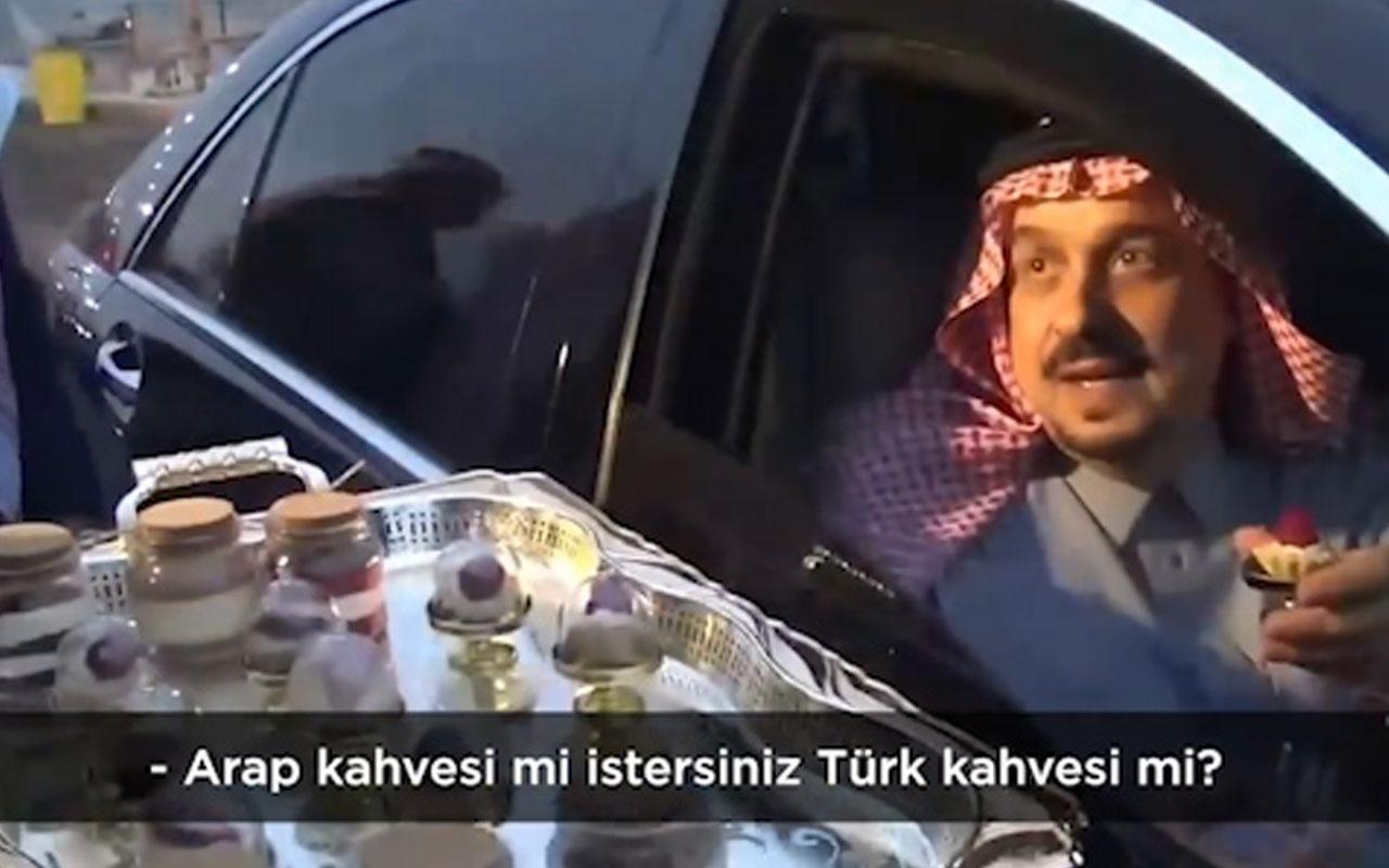 Suudi Prens'in Türk kahvesi işi bambaşka çıktı gerçek görüntüye bakın