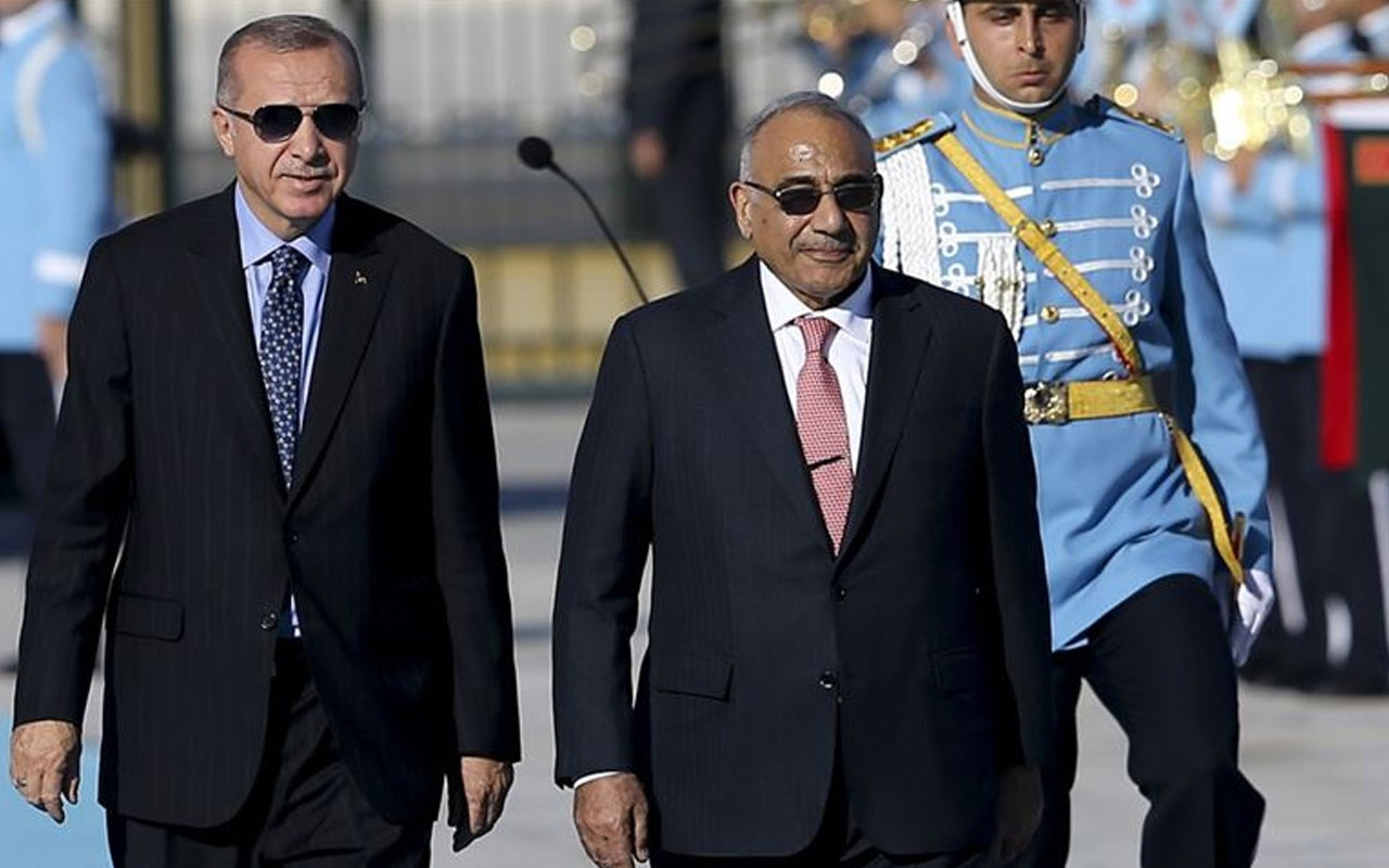 Erdoğan Irak Başbakanı Abdulmehdi'yi resmi törenle karşıladı