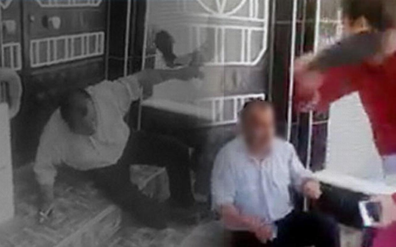 Gaziantep'te taciz şüphelisini terlikle dövüp polise teslim ettiler