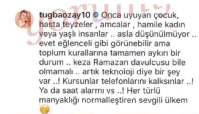 Tuğba Özay'dan fenomen videoya tepki! Ramazan davulcusunu topluma aykırı buldu!