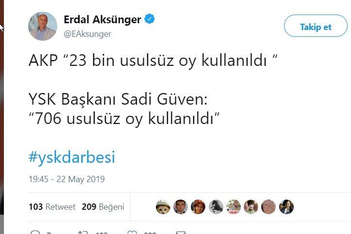 YSK'nın İstanbul seçimlerine iptal kararına ünlülerden tepki yağıyor Fatih Portakal'ın tweetini bakın