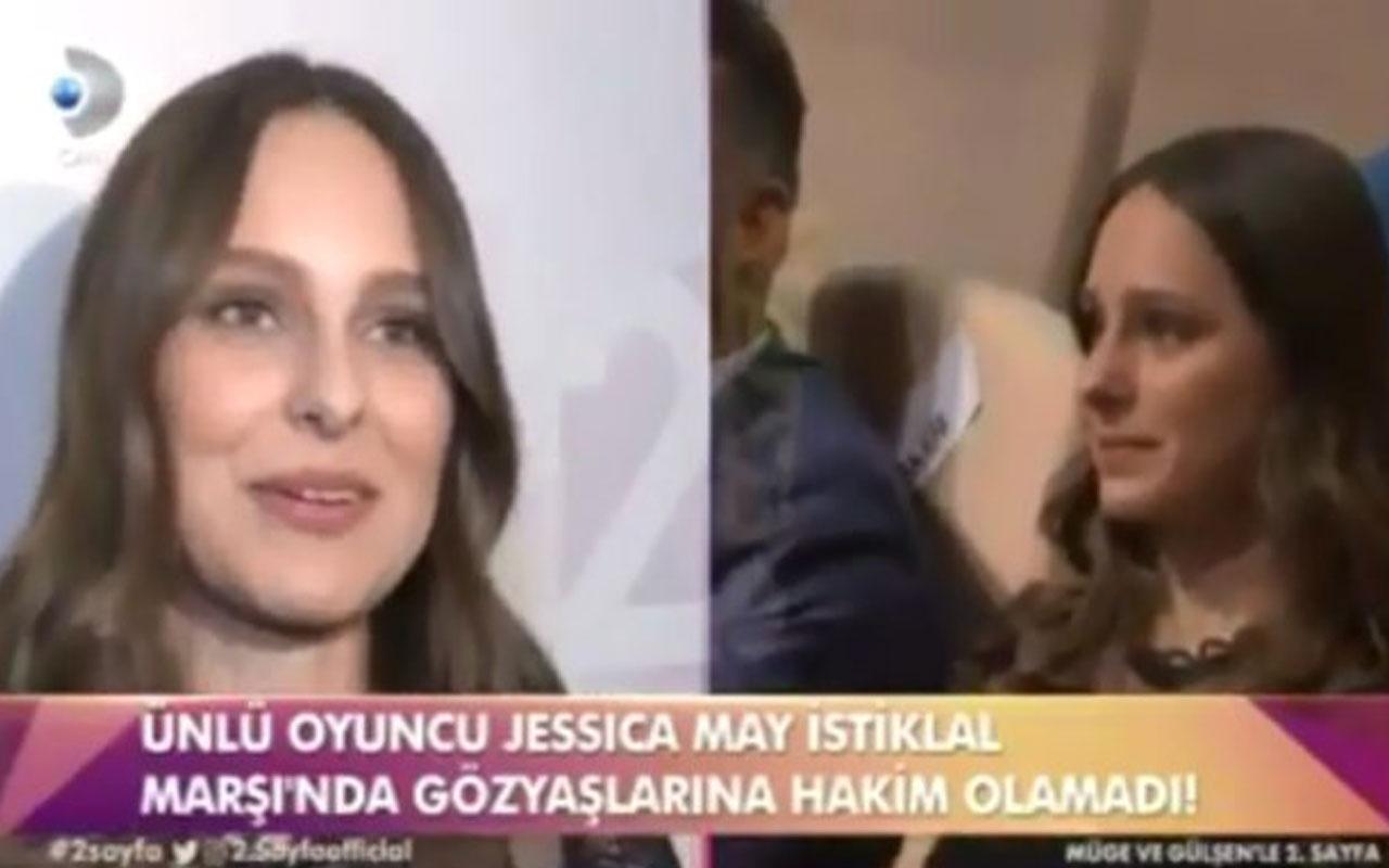 Brezilyalı oyuncu Jessica May İstiklal Marşı okunurken ağladı