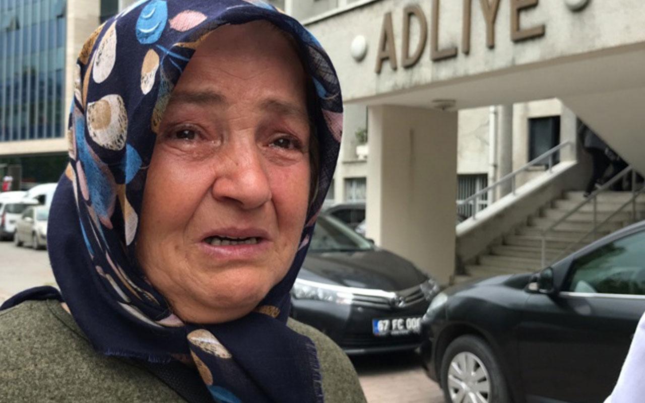 Adliye koridorunda kızının katiliyle karşılaşınca, gözyaşlarına boğuldu