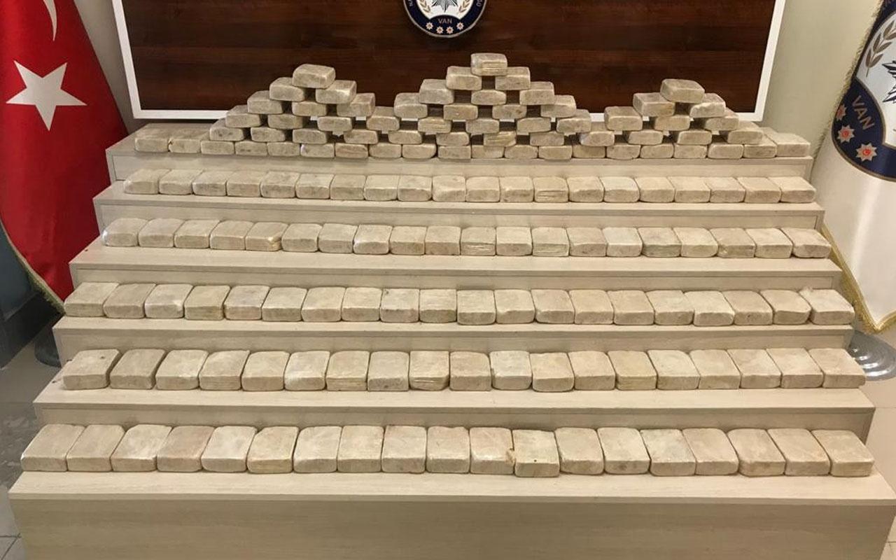 Van'da yorganların içerisinde 81 kilo eroin ele geçirildi
