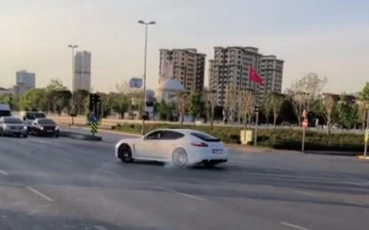 İstanbul Pendik'te lüks aracıyla drift yapan sürücü yakalandı