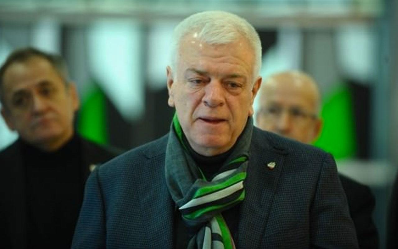 Bursaspor Başkanı'na şok soruşturma
