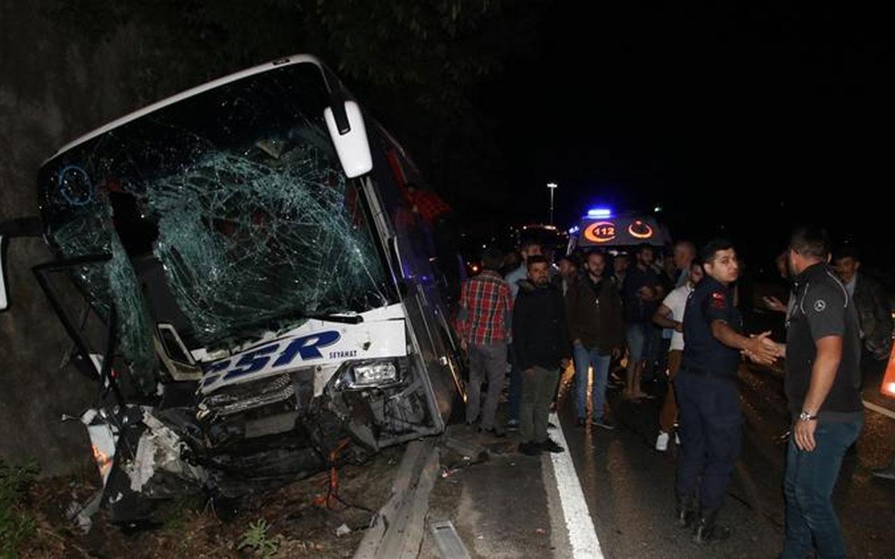 Bolu Dağı'nda feci kaza: 1 ölü 13 yaralı