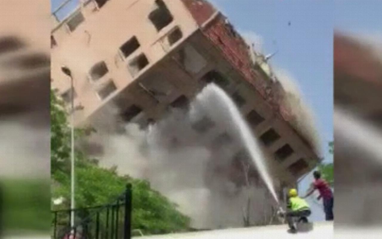 İstanbul Bahçelievler'de kontrollü yıkım kontrolden çıktı