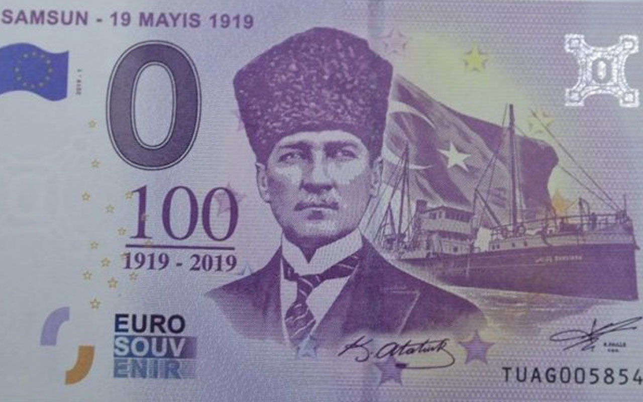 19 Mayıs'ın 100'üncü yılı anısına Atatürk'lü Euro basıldı