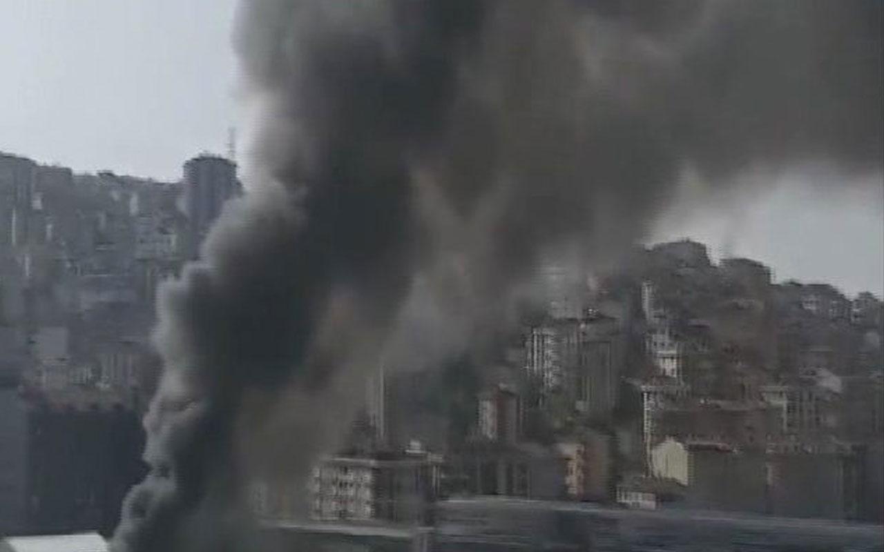 Alibeyköy'de İşçilerin kaldığı konteynerde korkunç yangın