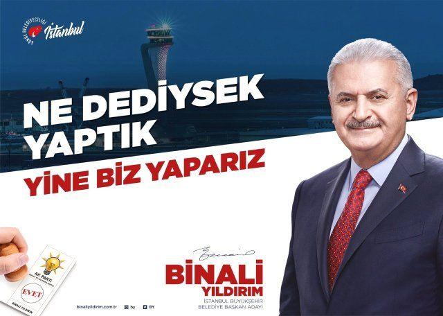 AK Parti İBB Adayı Binali Yıldırım'ın seçim sloganı belli oldu!