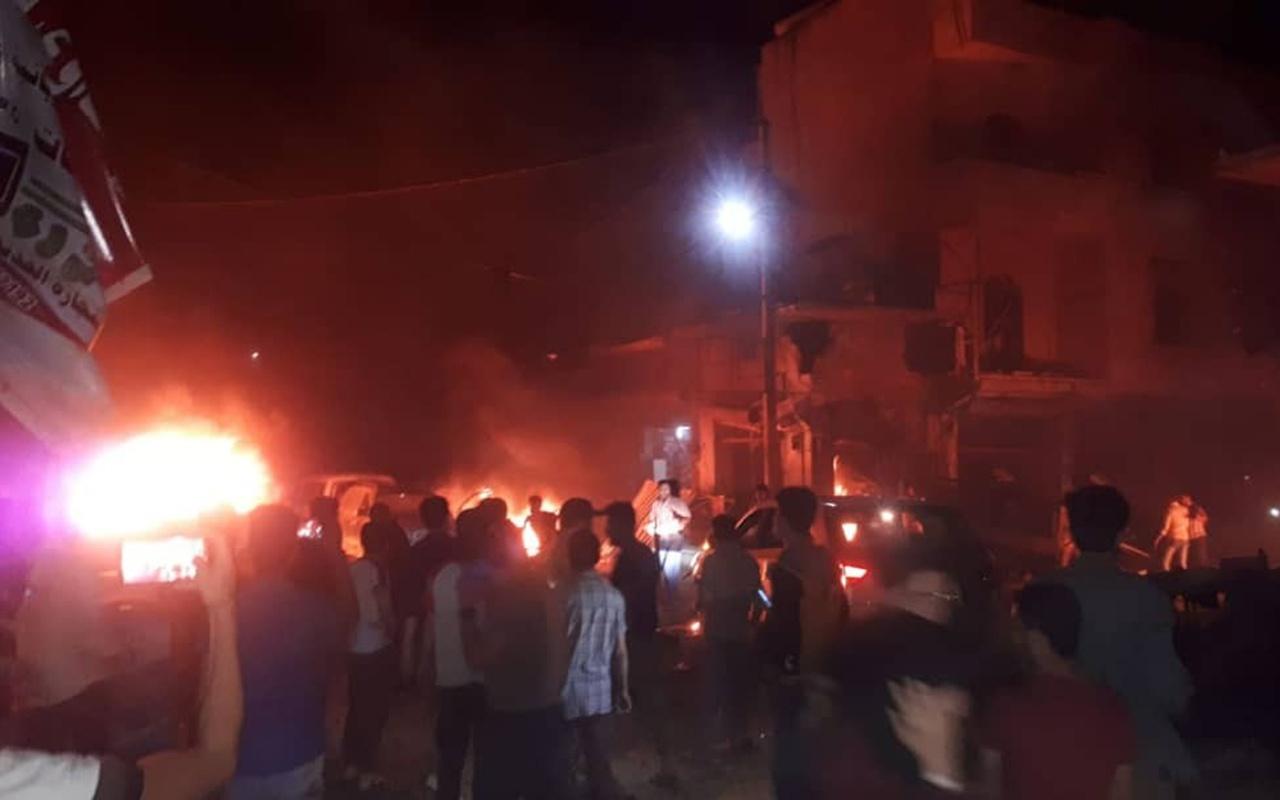 Azez'de patlama 13 ölü