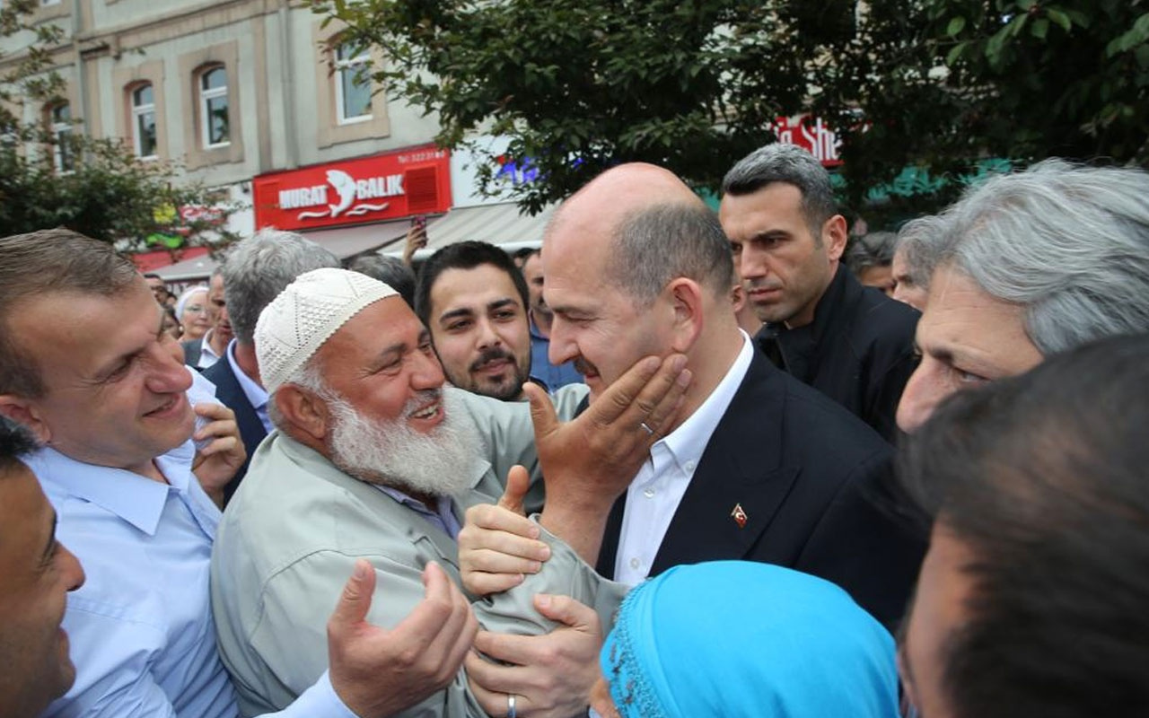 Süleyman Soylu'ya Trabzon'da sevgi seli