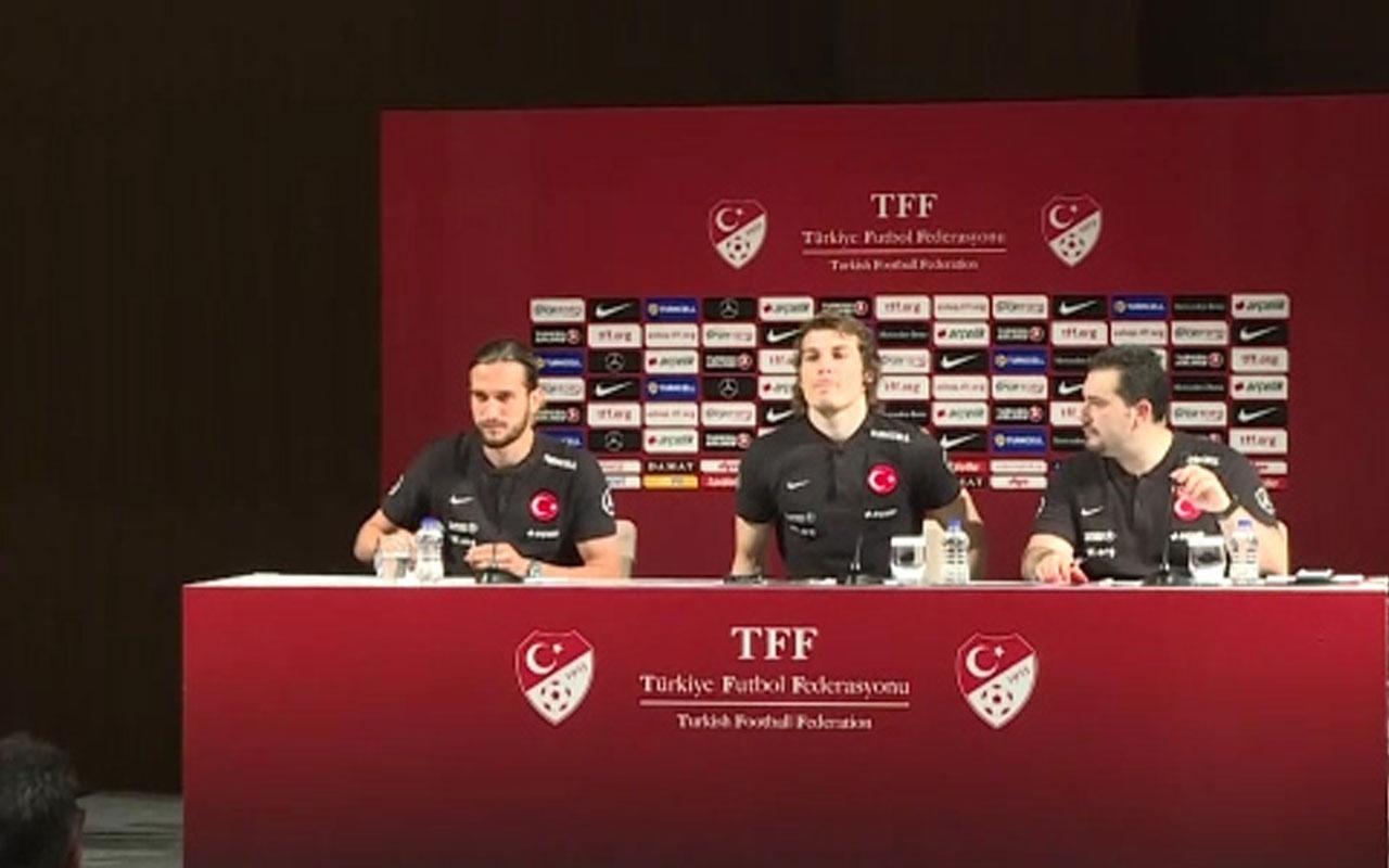 A Milli Futbol Takımı oyuncuları Çağlar Söyüncü ve Yusuf Yazıcı'nın basın toplantısı