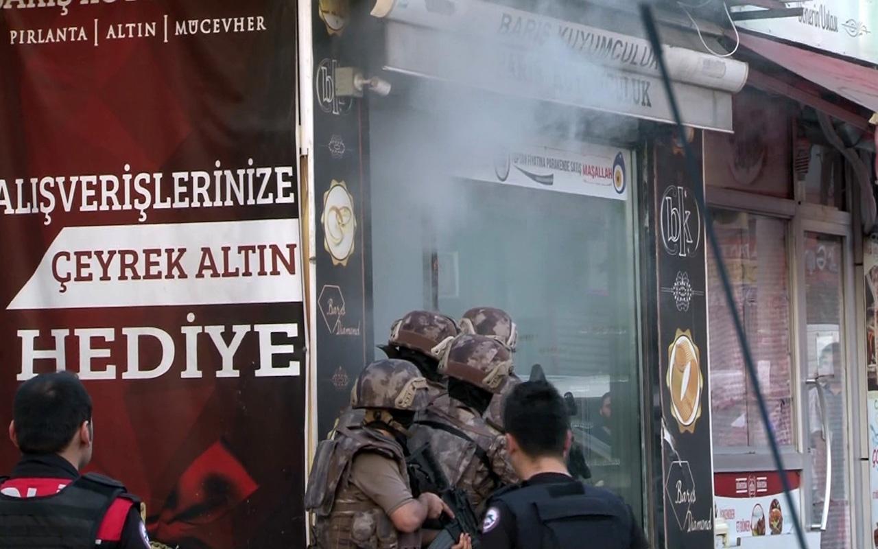 İstanbul Sarıyer'de kuyumcuda özel harekat operasyonu