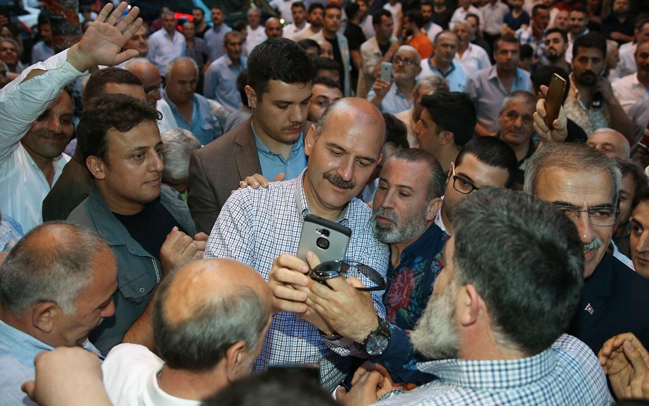 Bakan Soylu, Gaziosmanpaşa'da esnafı ziyaret etti