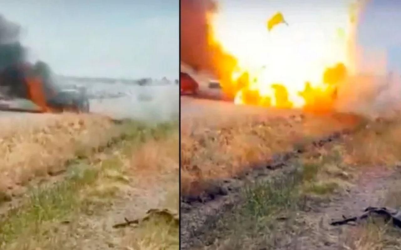 Diyarbakır-Silvan karayolunda otomobil bomba gibi patladı!