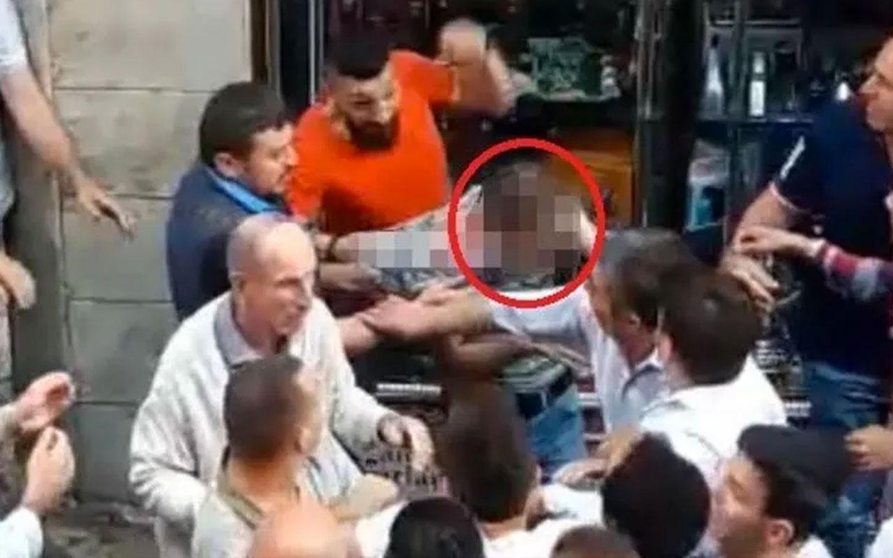 Trabzon'da tacizciyi vatandaşlar tekme tokat dövdü! Kamera kayıttaydı