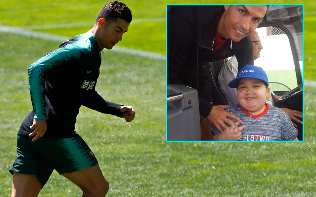 Ronaldo lösemili çocuğun isteğini kırmadı