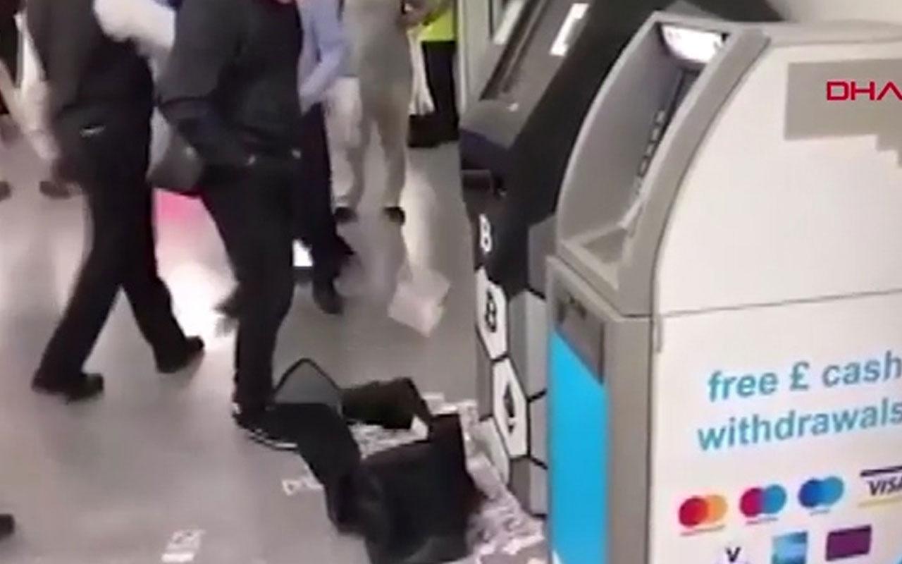 İnanılmaz görüntüler! ATM para saçtı