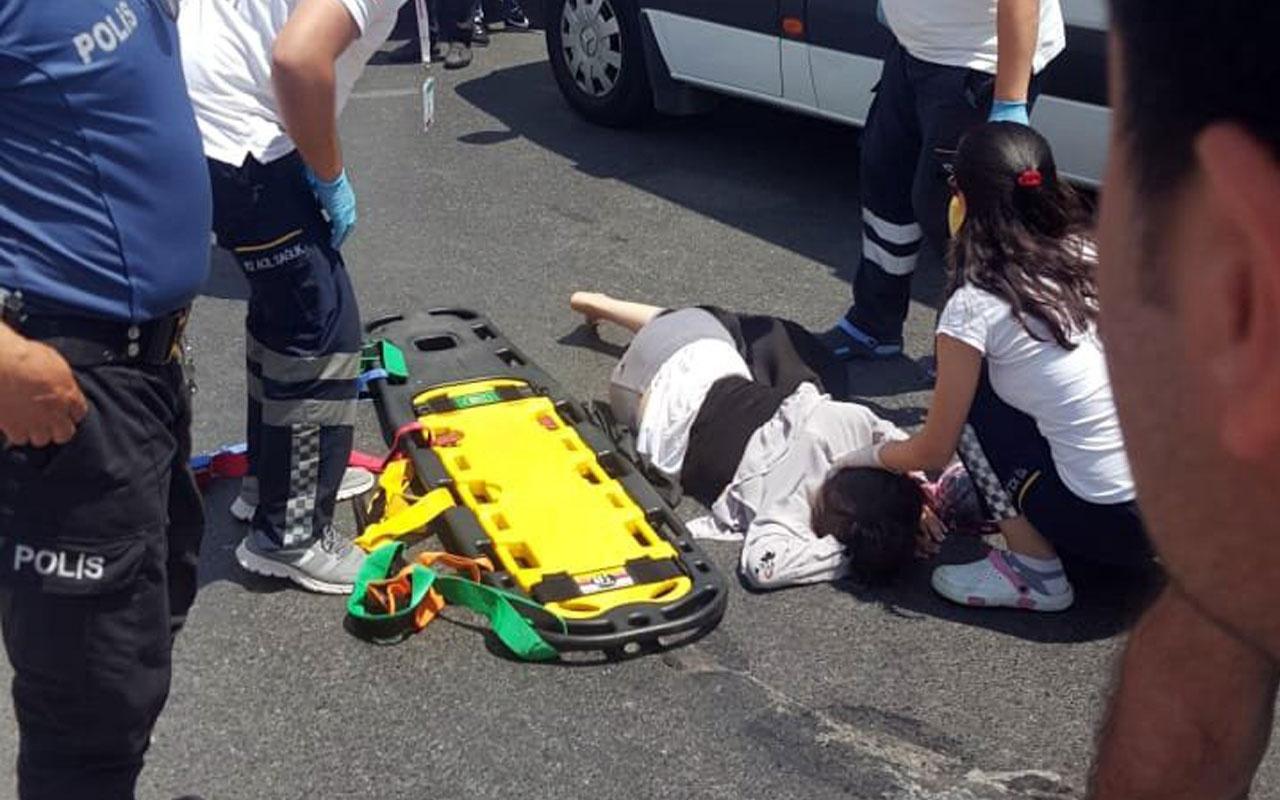 Pendik'te süratli sürücü karşıdan karşıya geçmeye çalışan kadına çarptı