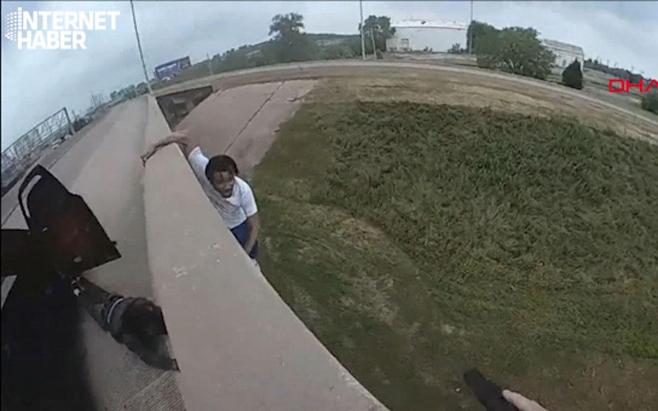 Polisten kaçmak için 10 metre yükseklikteki köprüden atladı