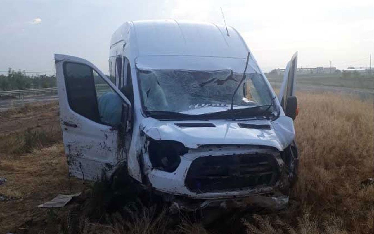 Aksaray'da korkunç minibüs kazası: Ölü ve yaralılar var