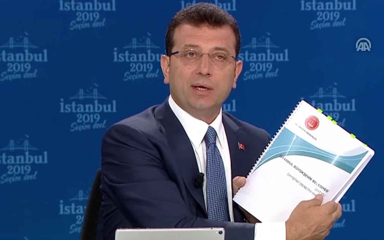 "Ekrem İmamoğlu: ""Sayıştay raporu konuyu anlatır"""