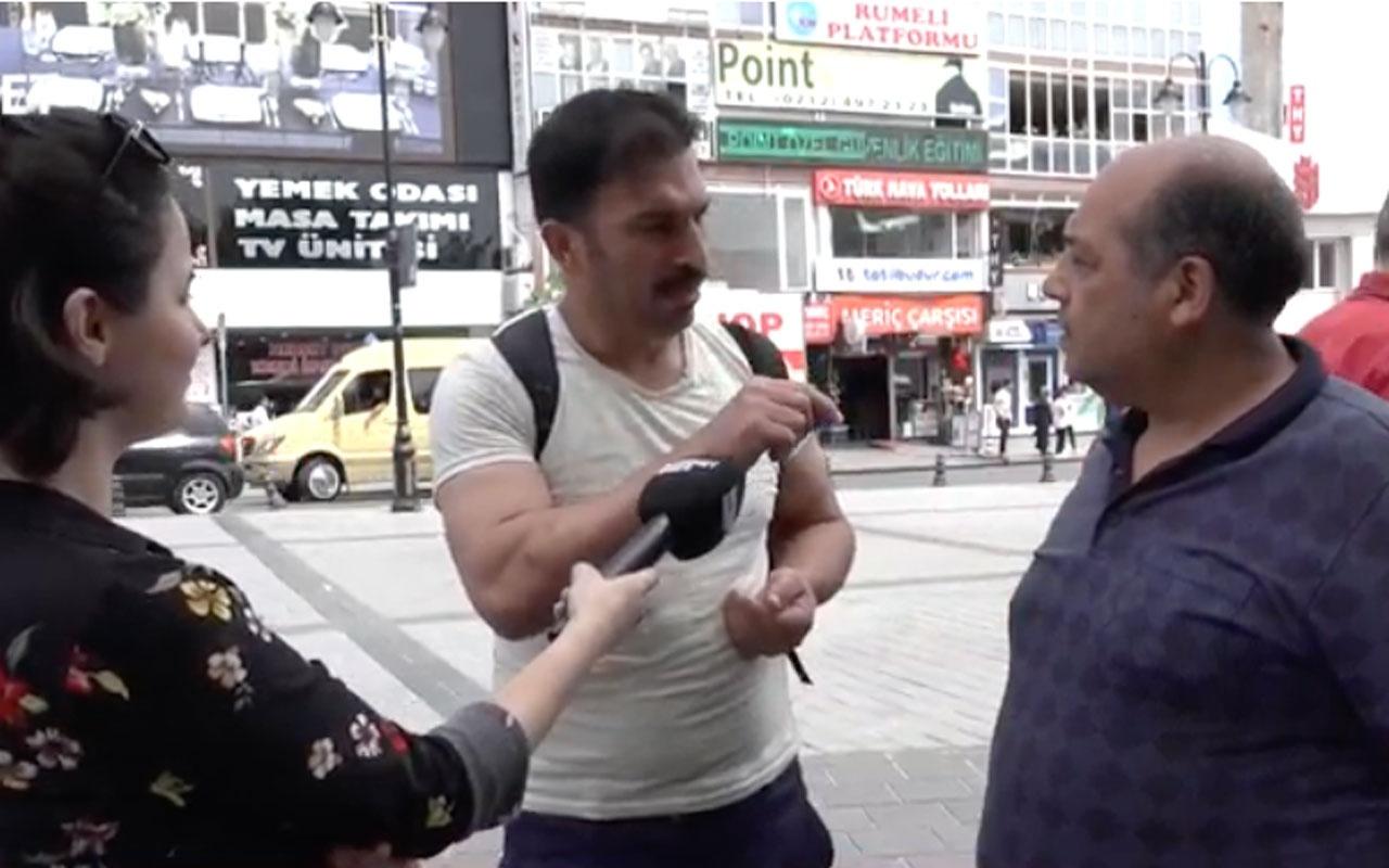 İmamoğlu mu Yıldırım mı diye sorduk! AK Partili ile CHP'li kavga etti