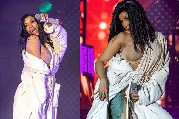 Dünyaca ünlü şarkıcı sahnede rezil oldu! Dans ederken kostümü yırtılınca...