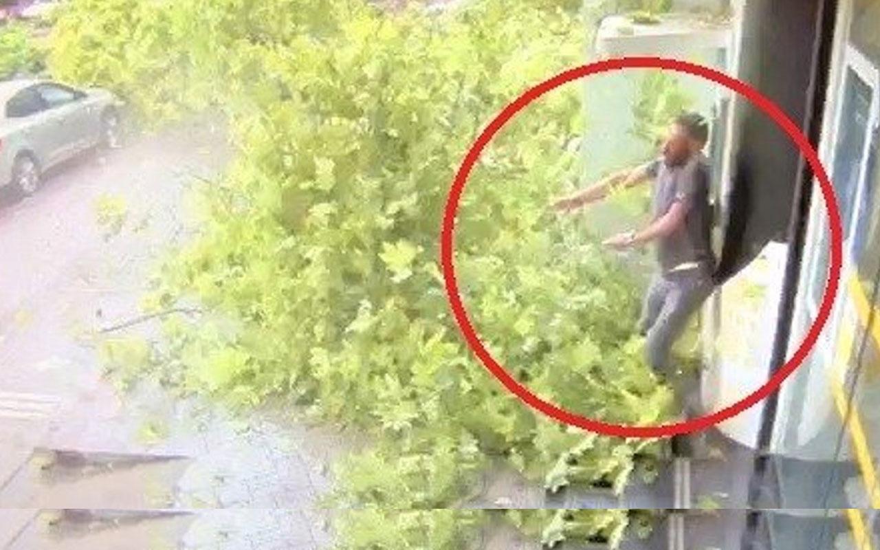 Kocaeli'de fırtınada asırlık çınar ağacının devrilme anı kamerada