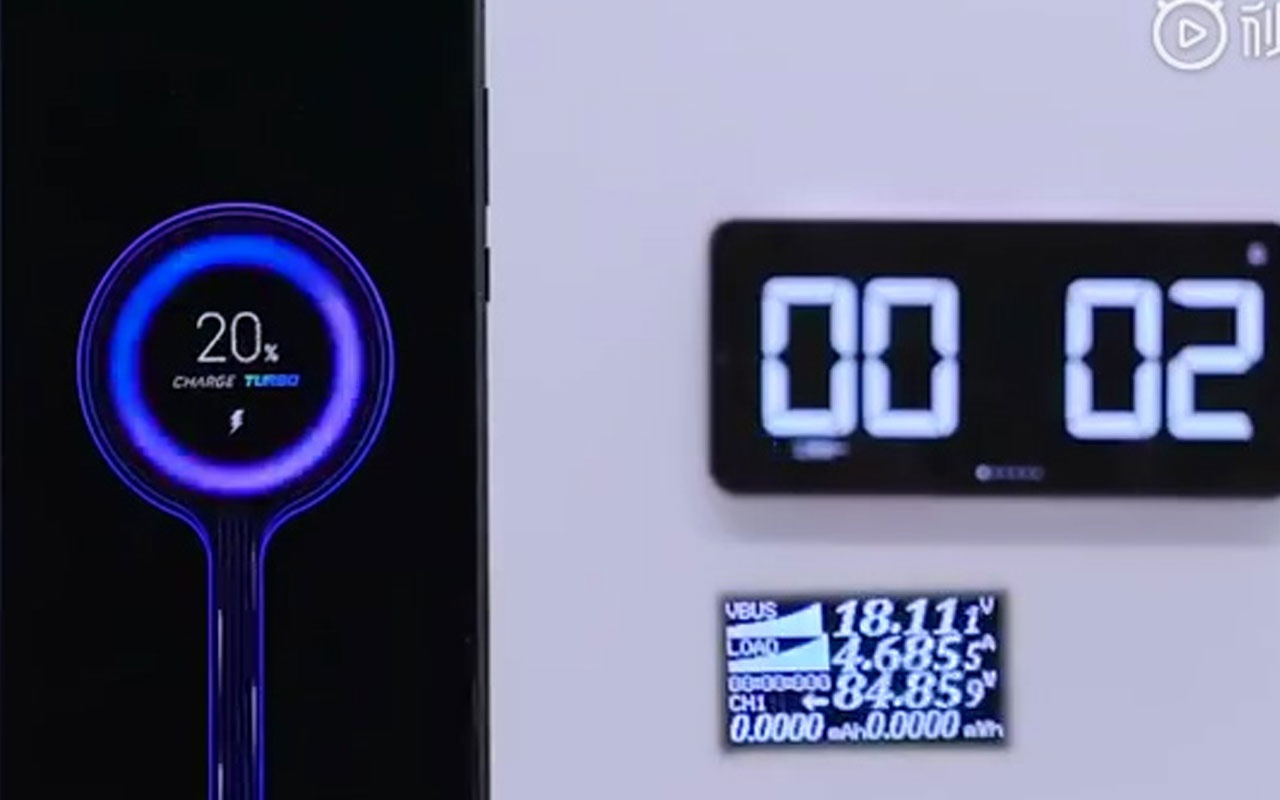 Xiaomi'nin 100 Watt hızlı şarj eden alet videosu