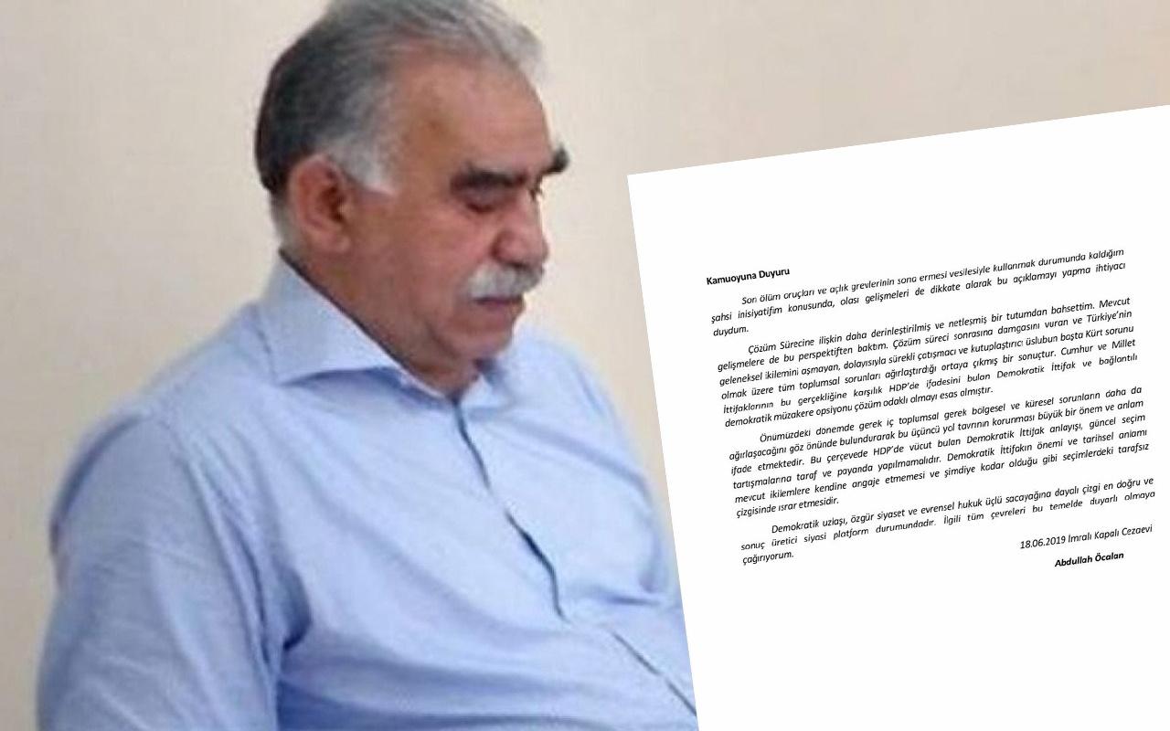 Abdullah Öcalan'ın mektubu! Son dakika haber avukatlarından geldi
