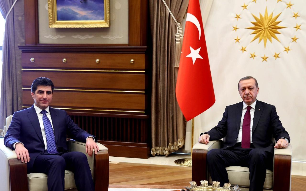 Cumhurbaşkanı Erdoğan ile Barzani'nin görüşmesi başladı
