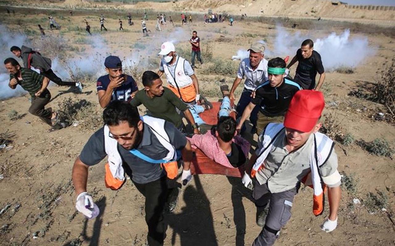 İsrail Gazze sınırında 39 Filistinliyi yaraladı