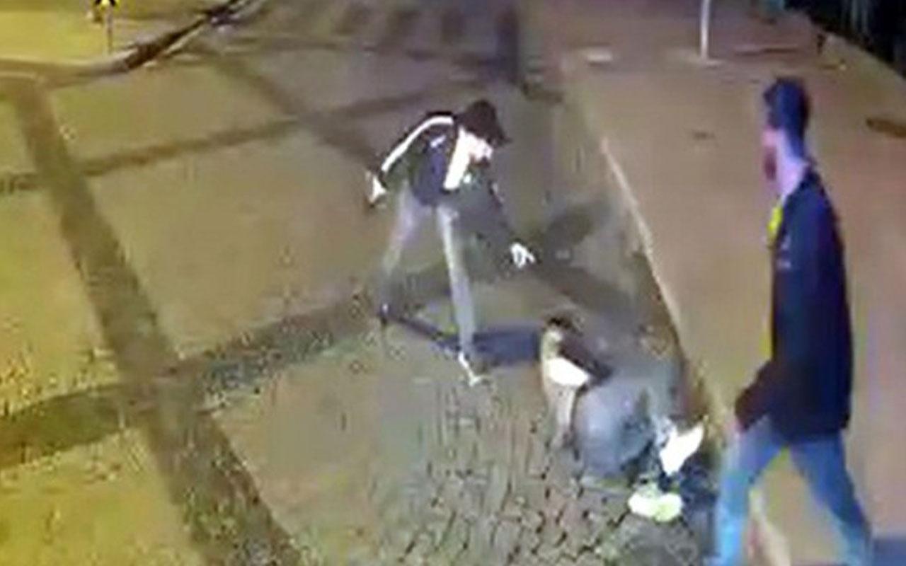 İzmit Derince'de sokak ortasındaki silahlı kavga otobüs kamerasına yansıdı