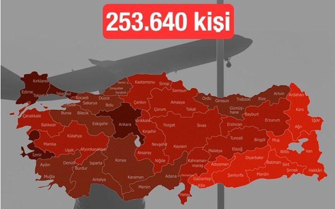 Türkiye'den yurt dışına hangi ilden kaç kişi göç etti? İşte il il göç sayıları