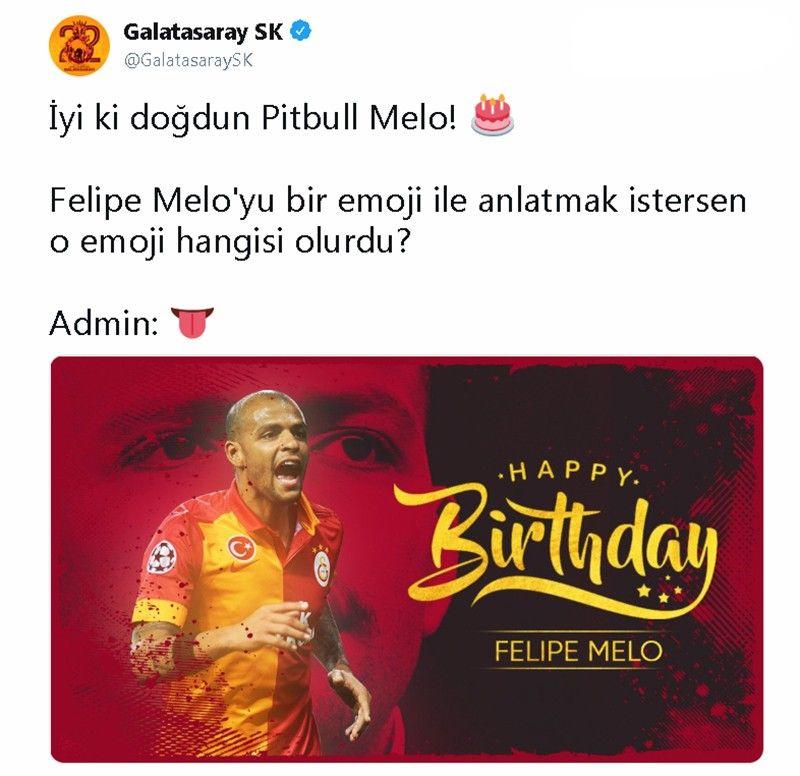Sarı-kırmızılı taraflar Felipe Melo'nun doğum gününü unutmadı