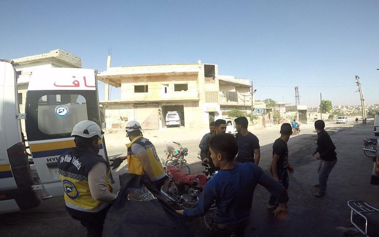 Suriye savaş uçaklarının İdlib civarını bombalamasıyla 8 sivil öldü