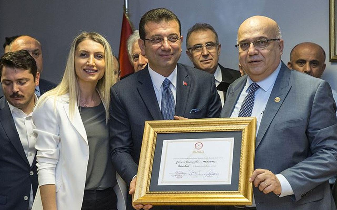 Ekrem İmamoğlu mazbatasını alıp İstanbul Valisi Yerlikaya'dan görevi devraldı